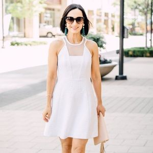 Lily Pulitzer White Dress with Mesh Insert